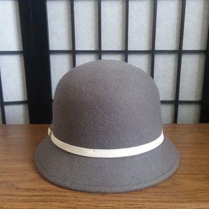 Charming Charlie 100% Wool Winter Bucket Hat Gray